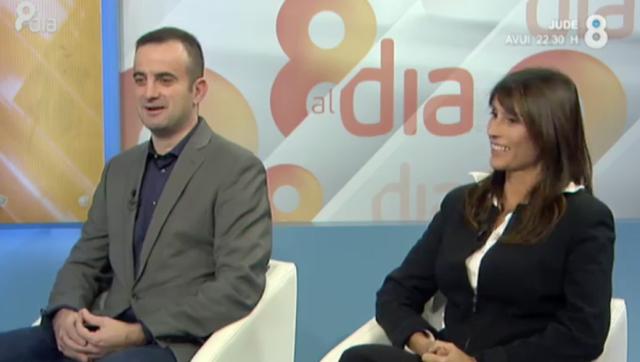 Mireia Sans i Jordi Serrano A 8TV